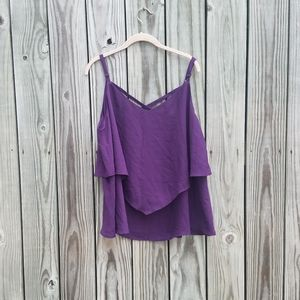 Torrid 2 Strappy Layered Purple Camisole